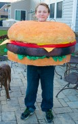 Jenny's DIY Hamburger made for Josh